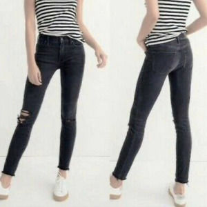 """Madewell 9"""" High-Rise Distressed Skinny Jeans 26"""